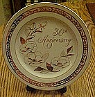 30th wedding anniversary plate by George Good