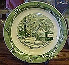 Currier and Ives Old Homestead in the Winter Pie Plate