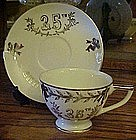 Lefton China 25th wedding anniversary cup and saucer