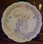 Precious Moments mini Anniversary plate, Love is......