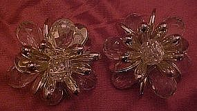 Avon large snowflake ice crystals earrings, Clips