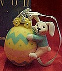 Avon Busy Bunny Easter ornament, boxed