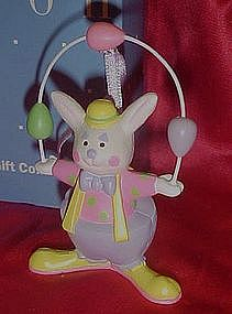 Avon Easter bunny clown juggler,  Easter ornament. box