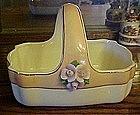 Vintage Teleflora ceramic basket with applied roses
