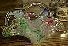 Hand blown  Murano art glass basket