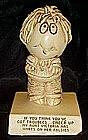 """Sillisculpt sentiment figure by Paula """"troubles"""""""
