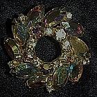Vintage Austria aurora boreallis circular pin