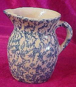 Robinsons Ransbottom blue sponge pottery pitcher