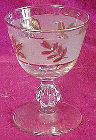 "Libbey  Golden foliage 3 7/8"" liquor / cocktail glass"