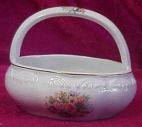 Porcelain flower basket, floral decoration