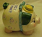Vintage piggy bank, It's easy to save money...in a..