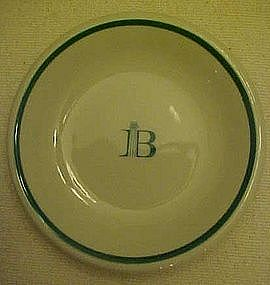Dunn Bennett Hotel ware sauce dish JB Hotel logo