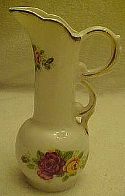 "5 1/4""  bone china pitcher, Cottage Roses"