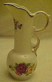 """5 1/4""""  bone china pitcher, Cottage Roses"""