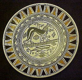 Hand made Neofitoy Keramik plate of Cerberus Greece