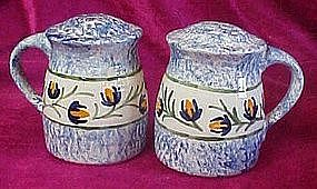 Huge blue sponge range shakers, with floral vine