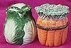 Carrots and lettuce salt and pepper shakers