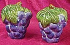 Large grape bunches, salt and pepper shakers