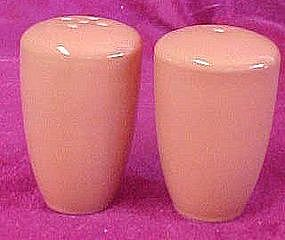 Pumpkin color china salt and pepper shakers