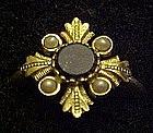 Vintage 1976 Avon Viennese ring Lapis