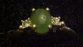Vintage 1974 Avon Oriental Jade ring