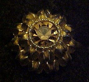 Vintage 1974 Avon Sunflower ring, topaz color