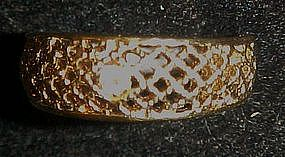 Vintage1978  Lattice Lace ring / band by Avon