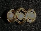 Vintage 1973 Triple Twist Avon pearl ring