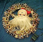 Vintage 70's Santa tree topper with twinkle lights.