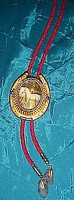 Lucky horseshoe and colt bolo tie, VERY NICE