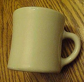 Old Victor restaurant coffee mug, off white