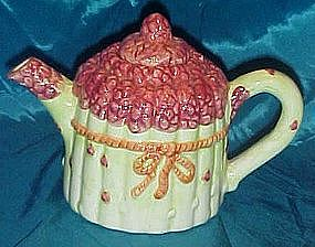 Asparagus tips ceramic teapot