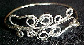 Free form sterling silver bracelet
