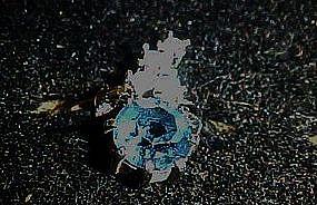 Vintage Avon Indiglow  blue rhinestone ring, 1975