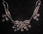Vintage Van Dell Sterling necklace and earrings