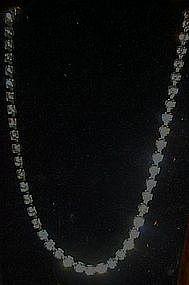 Coro tennis style rhinestone choker necklace