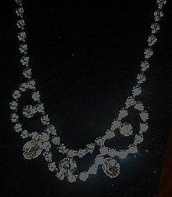 Vintage fancy all rhinestone necklace