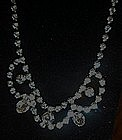Vintage fancy all rhinestone necklace