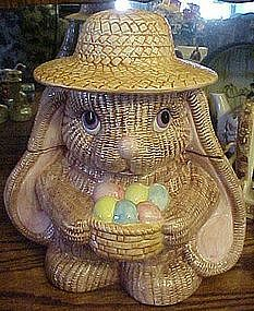 Wriggles the rabbit cookie jar by Metro, 1994