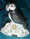 Alaskan Puffin bisque  bird figurine, Alaska souvenir