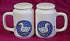 Eileen's Kitchen calico goose salt and pepper shakers