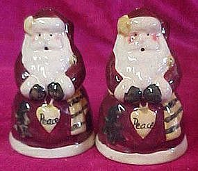 Old World Peace Santa salt and pepper shakers