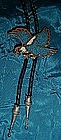 Inlaid turquoise  flying eagle bolo tie