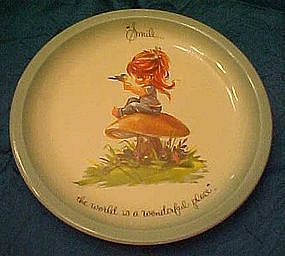 Gigi  plate, Smile, the world is a wonderful place