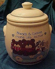 Teddy Bears cookie jar, Friends and cookies make life..