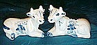 Blue delft cow salt and pepper shakers, windmills