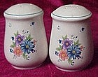 Bright flowers stoneware salt and pepper shakers