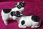Black and white cow salt and pepper shakers