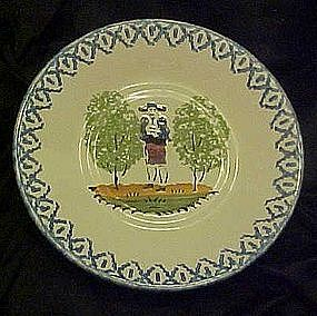 France Pottery cup plate / saucer, Quimper style