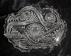 Imperial Glass Hobstar and tassel crystal bon bon dish